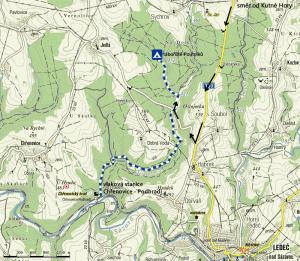 mapa na tábořiště