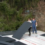 Pokládání nové střechy